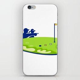 Golfer Caddie Golf Course Retro iPhone Skin