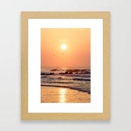 Folly Beach Sunrise Framed Art Print
