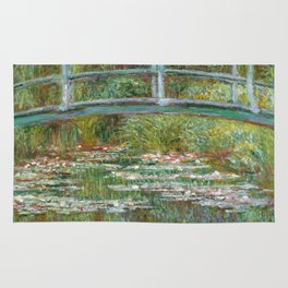 "Claude Monet ""Bridge over a Pond of Water Lilies"" Rug"