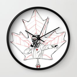 Racing for Gold in Canada Wall Clock