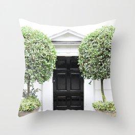 Westminster door 4 Throw Pillow