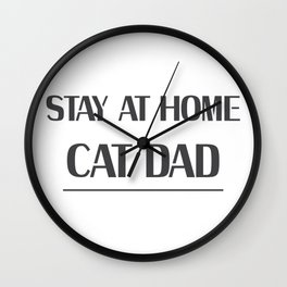 Dad Love Cat Fathers Day Cat Lover Pet Love Gifts Wall Clock