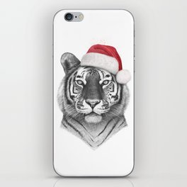 Christmas Tiger iPhone Skin