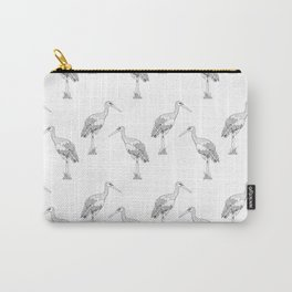 Stork pattern Carry-All Pouch