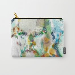 MARK TWAIN - watercolor portrait Carry-All Pouch