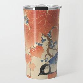 Ohara Koson - Japanese Bird Blockprint Travel Mug