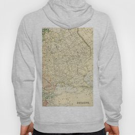 Old Map of the European Russia Hoody