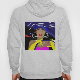 """Driving with my best friend"" Paulette Lust's Original, Contemporary, Whimsical, Colorful Art Hoody"