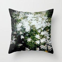 Forest Crocus Throw Pillow