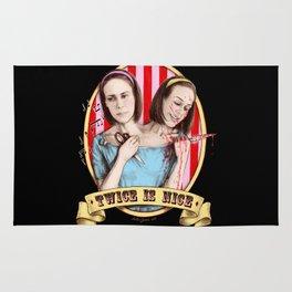 Tattler Twins (color) Rug