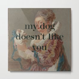 My Dog Doesn't Like You Metal Print