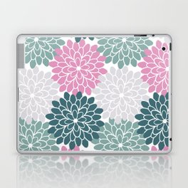 Petal in Rose, Cyan and Milky Grey Laptop & iPad Skin