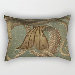 """Mermaid & Octopus No. 4"" by David Delamare (No Border) Rectangular Pillow"