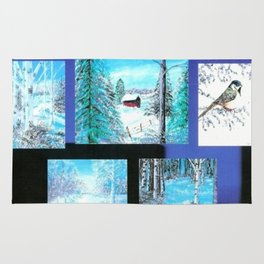 """ Winter Collage II "" Rug"