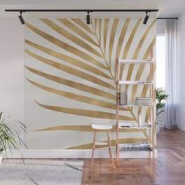 Metallic Gold Palm Leaf Wall Mural