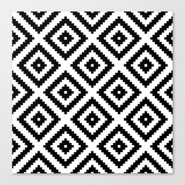 Tribal W&B Canvas Print