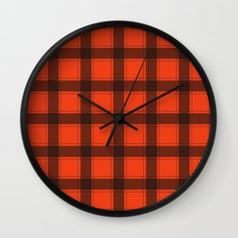 Classic Red Plaid Wall Clock