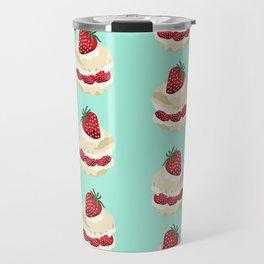 Fruit Shortcake dessert food apparel and gifts food fight mint Travel Mug