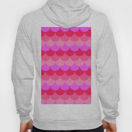 Scalloped Confetti in Neon Coral Reef Hoody
