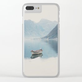 boat reflections ... Clear iPhone Case
