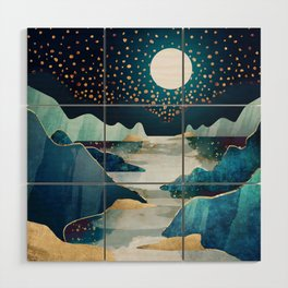 Moon Glow Wood Wall Art