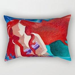 Ariel No Face Rectangular Pillow
