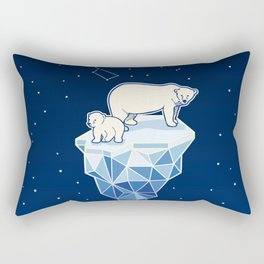 Polar bears on iceberg Rectangular Pillow