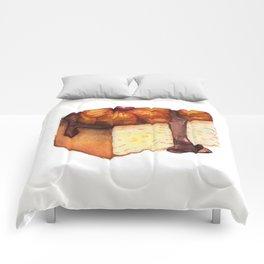 Pineapple Upside-Down Cake Slice Comforters