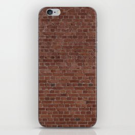 Brooklyn NYC Loft Apartment Brown Stone Brick Wall iPhone Skin
