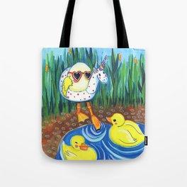 First swim Tote Bag