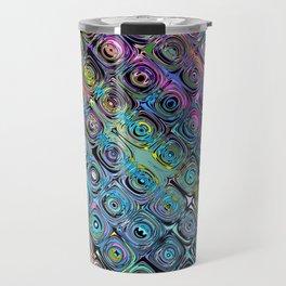 Abstract Spectral Circles Travel Mug