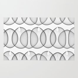 Black and White Bubbles Rug