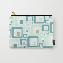 Retro Squares Mid Century Modern Background Carry-All Pouch