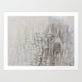 white castle Art Print