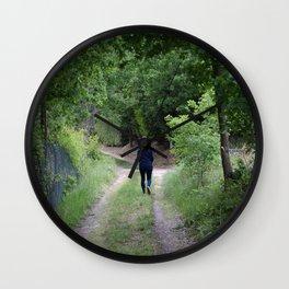 Sentiero nel bosco Wall Clock