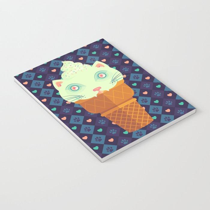 Strawberry-Mint Cat Notebook