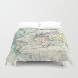 World map duvet covers society6 vintage map of the world 1801 duvet cover gumiabroncs Images