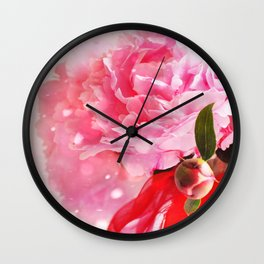 Pretty Pink Peonies :) Wall Clock