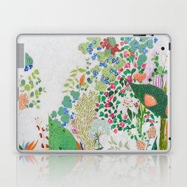 Painterly Floral Jungle on Pink and White Laptop & iPad Skin