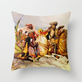 Buffalo Bill Cody - Rough Riders Throw Pillow