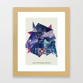 """I Find Your Lack of Space Disturbing"" Framed Art Print"