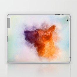 Belgian Malinois Puppy Painting - Mechelaar Laptop & iPad Skin