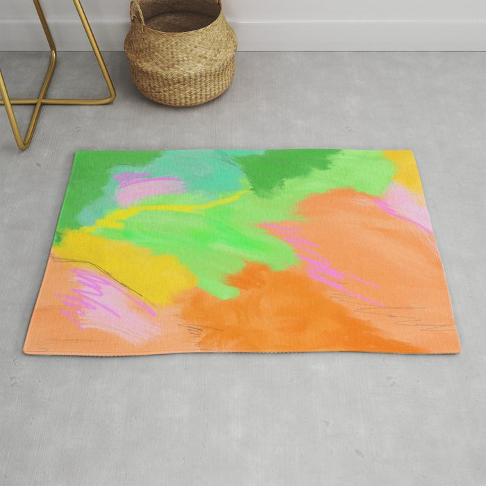 Abstract in Mango Rug