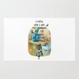 Alice In Wonderland Quote Rug