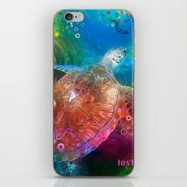 Sea Turtle In Living Color iPhone Skin