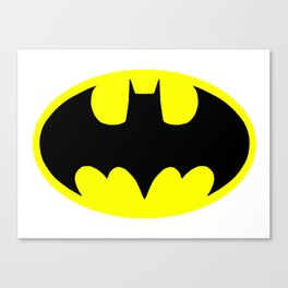 Bat man or Bat-man badge Canvas Print