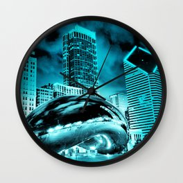 Chicago Blues 1 Wall Clock