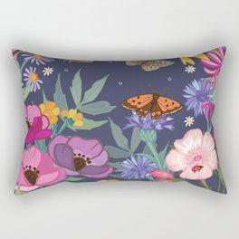 Anemones & Cornflowers Rectangular Pillow
