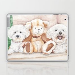 Two Bichons and A Friend Laptop & iPad Skin