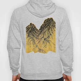 "遠望 series -""Gold Valley"" - Linocut Hoody"